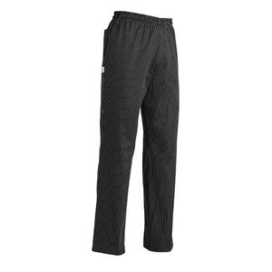 Pantalone cuoco gessato nero taglie forti 5XL - 6XL - 7XL