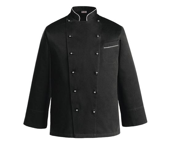 Giacca cuoco nera taglie forti 5XL - 6XL - 7XL