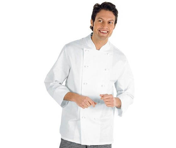 Giacca cuoco bianca Livorno Isacco Taglie forti 4XL