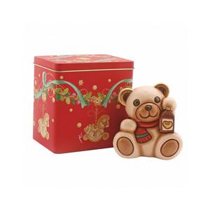 Teddy con lanterna + scatola in latta