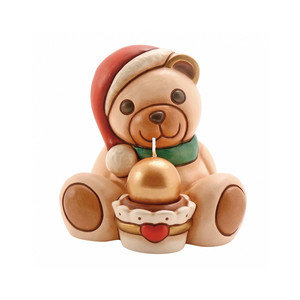Teddy con cupcake + candela