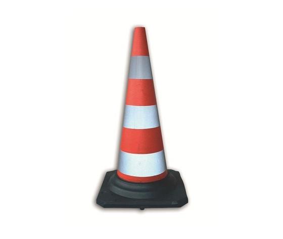 Kit 5 Cono Stradale 50 cm In Gomma rifrangente 700616