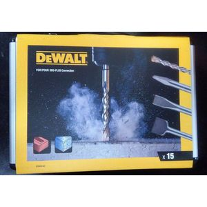 SET 11 PUNTE + 4 SCALPELLI SDS-PLUS IN VALIGETTA ALLUMINIO DEWALT DT9679-QZ