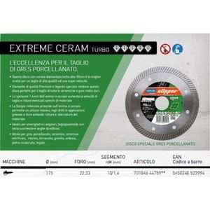 Disco diamantato Clipper Norton Saint Gobain Extreme Ceram JET 100498/01n