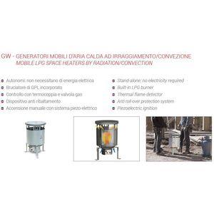 BIEMME DUE BM2 Riscaldatore GAS a irraggiamento 9.0654/BM2
