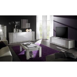 mod mars bianco lucido rifiniture pino chiaro. base 4 ante, base porta tv 200€, tavolino basso 120€