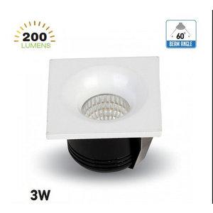 3W Spot LED Quadrato 6400K-5110