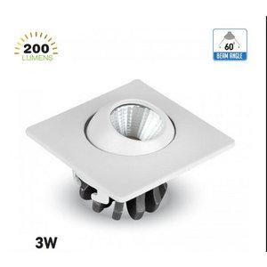 3W Spot LED Regolabile Quadrato 4000K-5096
