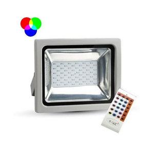 50W Proiettore LED RGB con RF Remote Corpo Grigio SMD-5691