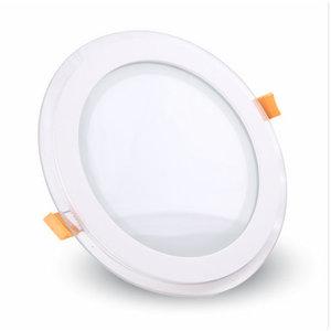 6W Pannello LED Mini Vetro rotondo Bianco caldo-4740