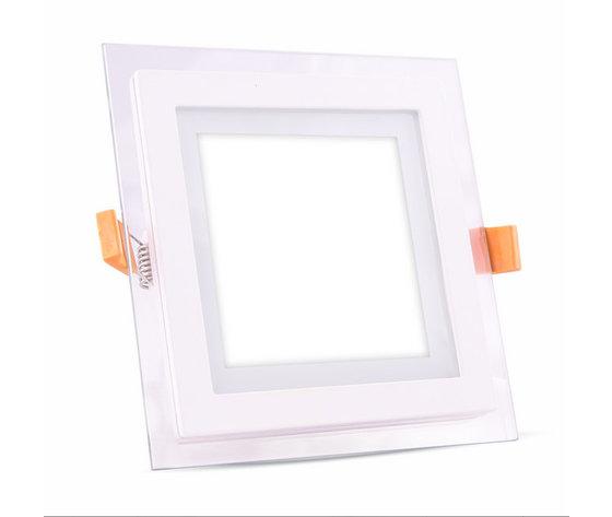 6W Pannello LED Mini Vetro quadrato Bianco caldo-4738