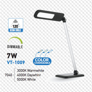 7W LED Lampada Tavolo 3 in 1 Dimmerabile Corpo Nero-7040