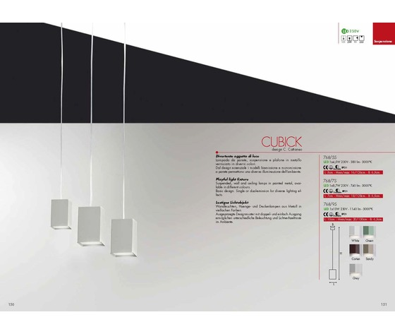 LAMPADA CUBICK- CAT768/7S