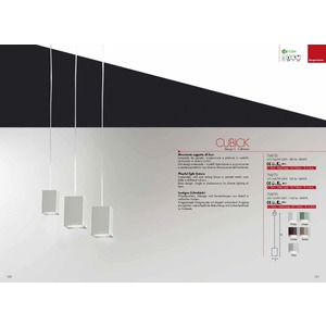 LAMPADA CUBICK- CAT 768/9S