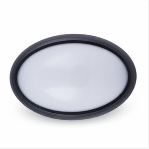 12W LED Plafoniera LED Ovale Corpo Nero IP66 6000K-1269