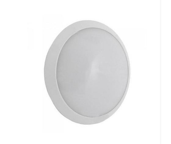 12W LED  Rotondo con Sensore Corpo Bianco IP65 Bianco naturale-4984