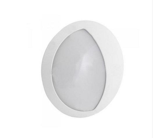 12W LED  Rotondo Corpo Bianco IP65 Bianco naturale-4986