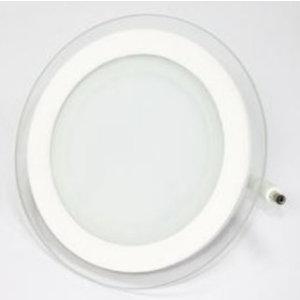 12W Pannello LED Mini Vetro rotondo Bianco caldo-4744