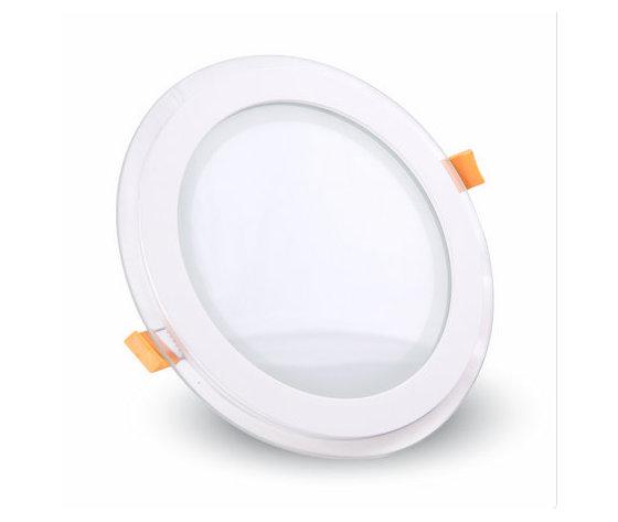 12W Pannello LED Mini Vetro rotondo Bianco freddo-4743