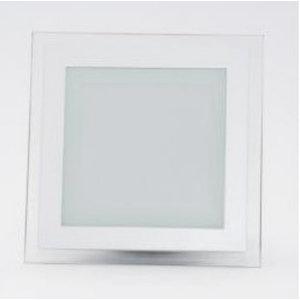 12W Pannello LED Mini Vetro quadrato Bianco caldo-4742