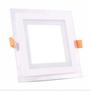 18W Pannello LED Mini Vetro quadrato Bianco caldo-4746