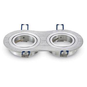 2*GU10 Corpo Rotondo Aluminium Brush-3602