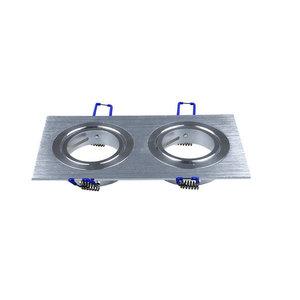 2*GU10 Corpo Quadrato Aluminium-3608