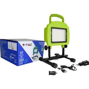 20W Proiettore LED Ricaricabile Bianco naturale Corpo verde-5692
