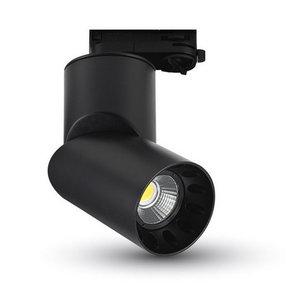 20W Proiettore a pista LED Bordo Nero Tondo Bianco Freddo-1202