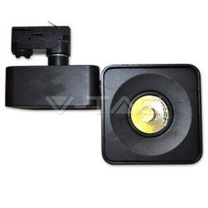 23W Proiettore a pista LED Bordo Nero Quadrato Bianco Freddo-1205
