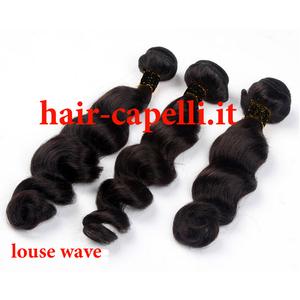 """capelli vergine onda tonda """"louse"""" india 40 cm"""