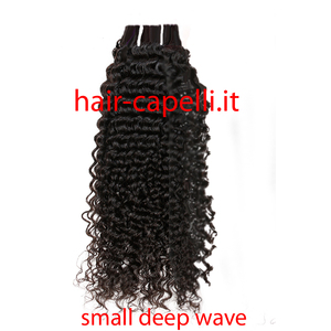 """capelli vergine riccio piccolo """"deep wave small"""" india 40 cm"""