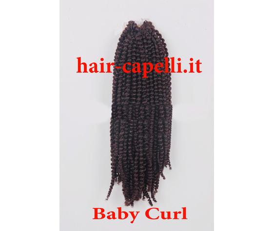 """capelli vergine riccio piccolissimo """"kinky curl"""" india 45 cm"""