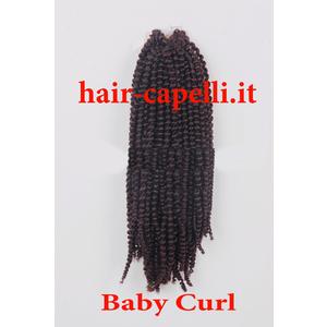"""capelli vergine riccio piccolissimo """"kinky curl"""" india 55 cm"""