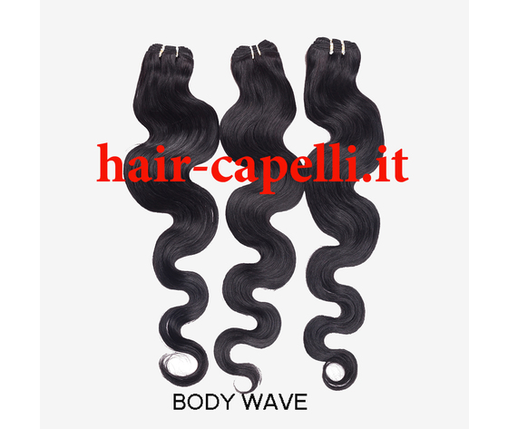 "capelli vergine onda piatta ""body wave"" india 25 cm"