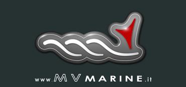 Logo e scritta mv marine