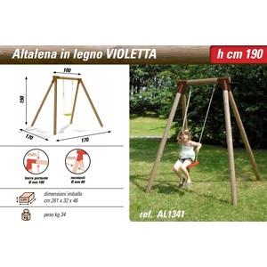 Altalena in legno Violetta New Plast