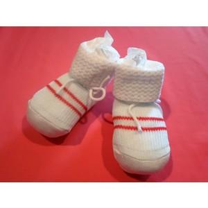Scarpina neonato in cotone modello con righe