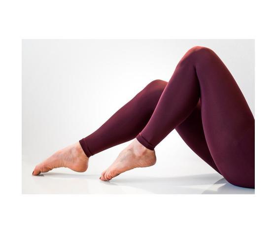 Legging effetto push-up 140 denari colore bordeaux