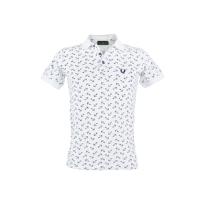POLO FRED PERRY ART.LP2320 COL.BIANCO CON STAMPA FULL ANCORA