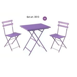 Set 2 sedie + 1 tavolo Arc En Ciel Outdoor