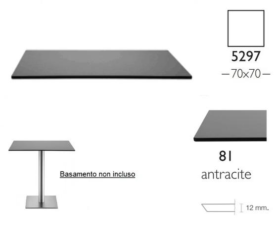 Piano Stratificato Compact cm 70x70 indoor spessore 12mm