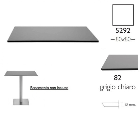Piano Stratificato Compact cm 80x80 indoor spessore 12mm