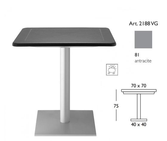 tavolo Dodo 70x70 outdoor