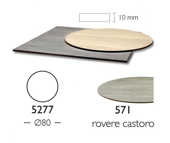 Piano Stratificato Compact diam 80 cm indoor spessore 10mm