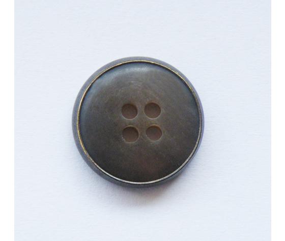 Bottone Corno/Ferro 15 mm