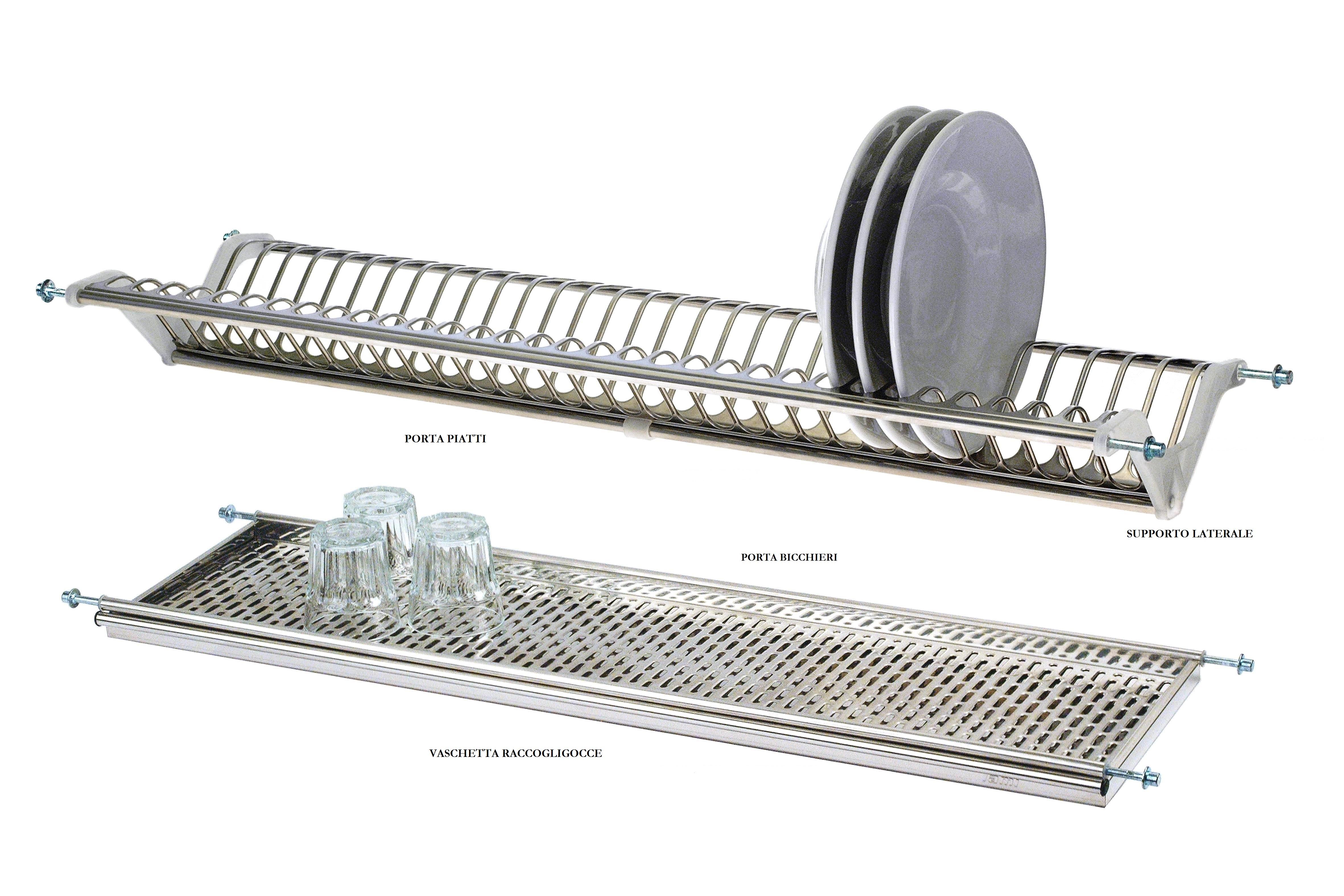 Scolapiatti kit c supporti modello 45 con fori da 10 mm lami - Scolapiatti da incasso ikea ...
