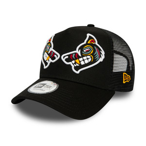 NEWERA CAP  WOLF TATTOO A-FRAME TRUCKER