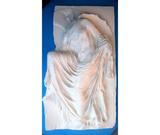 Bassorilievo in gesso - Nike  (Prodotto laccato bianco)