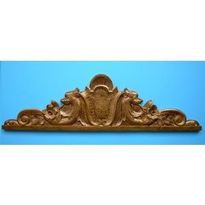 Pannello sopraporta  in gesso (Imitazione oro antico)